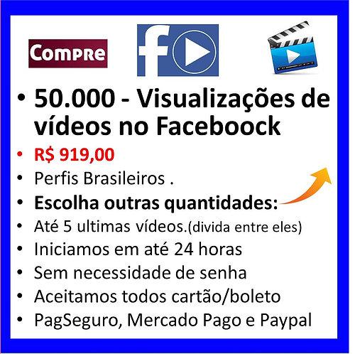 50.000 - Visualizações de Videos no Faceboock