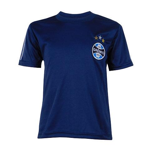 G606i Camisa Do Grêmio Infantil Azul Marinho Dry Gremio Licenciado