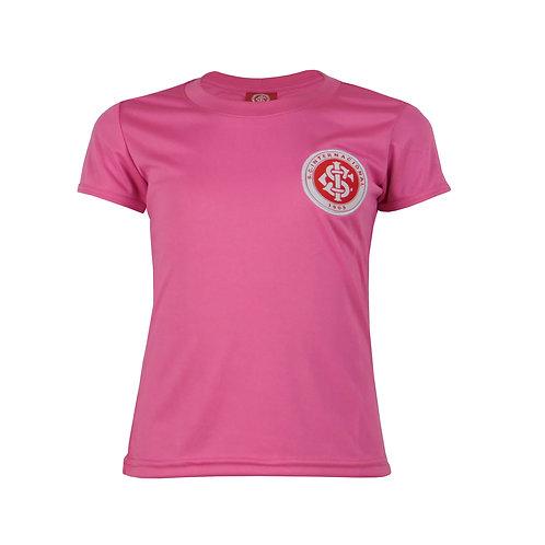 INT503J Baby Look Internacional Juvenil Feminino Rosa Dry Licenciado