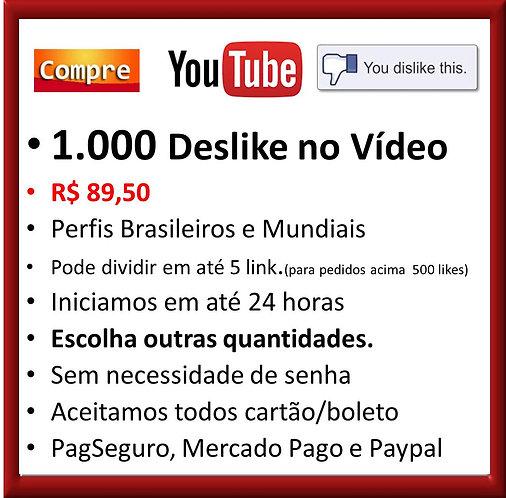 1.000 - Deslikes no Youtube Brasileiros e Mundiais