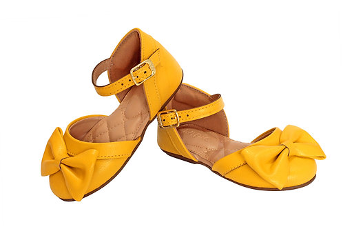 R.79 Sandalia Amarela Para Bebe Criança De Colo Rasteira Amarelo Lupie