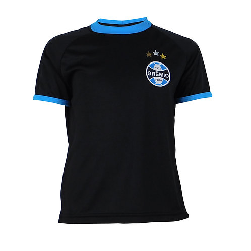 G612J Camisa Do Grêmio Juvenil Preto Dry Licenciado Camisa Nº 10