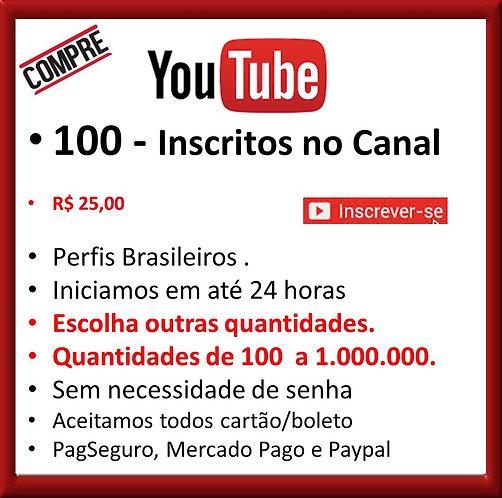 100 - Inscritos no Youtube Brasileiros