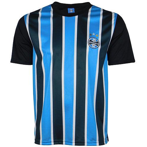 G607 Camisa Do Grêmio Masculina Azul E Preto Gremio Tricolor Licenciado