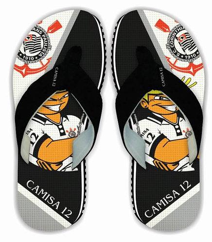 130070-CORINTHIANS- SURF-Masculino Adulto-Borracha -33/34 ao 45/46