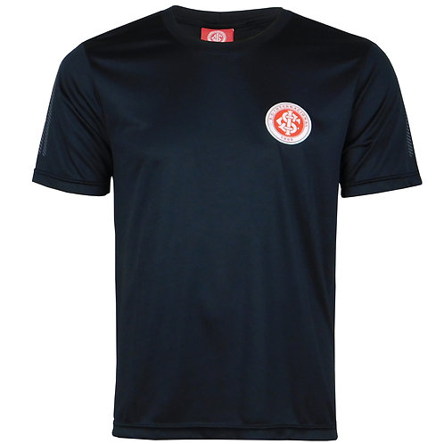 INT471 Camisa Do Internacional  Masculina Inter Preto Dry Licenciado