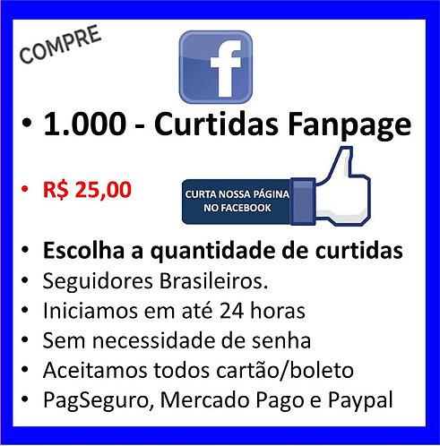 1.000 - Likes/Curtidas na sua  Fanpage