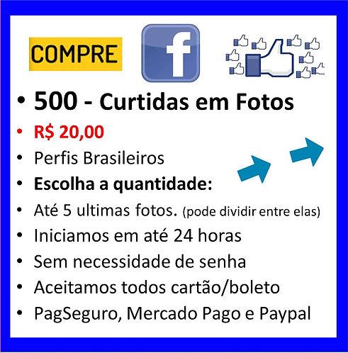 500 - Curtidas em imagens no Faceboock