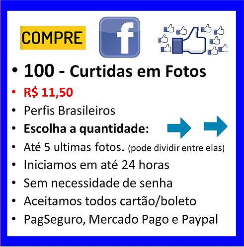 100 - Curtidas em imagens no Faceboock