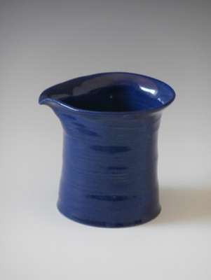"7"" bright blue pitcher"