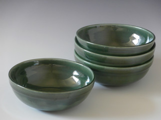set of green soup bowls