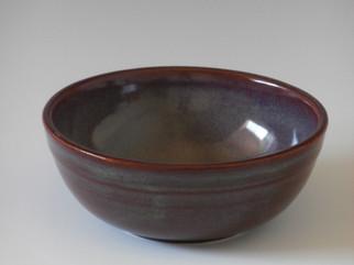 small burgundy bowl