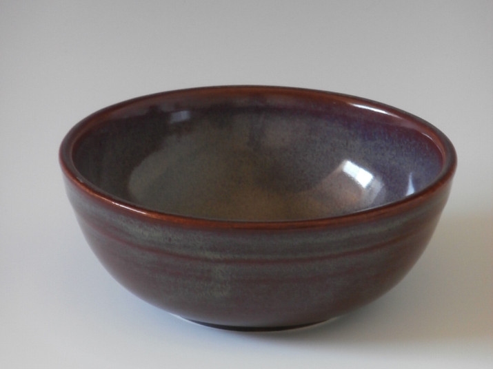 small burgundy bowl