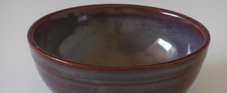 Burgundy small bowl