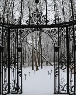 Gazebo in snow