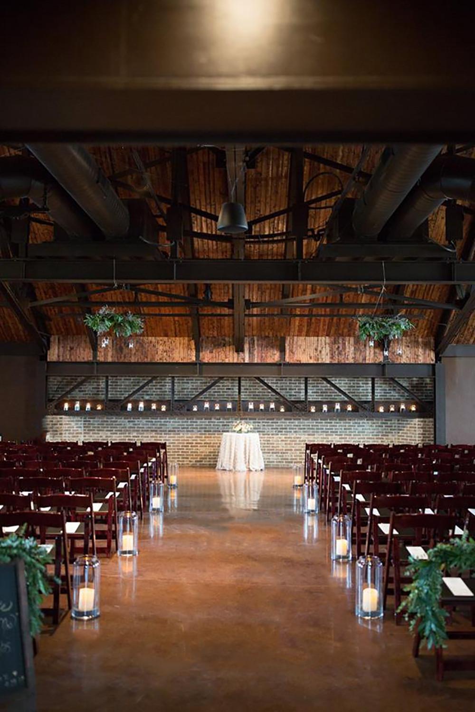 Rustic wedding ceremony venue
