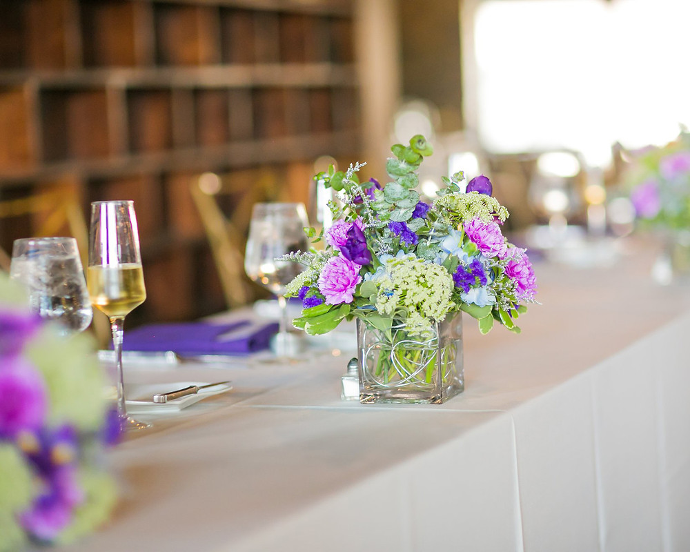 Head table wedding venue outdoors downtown Indianapolis