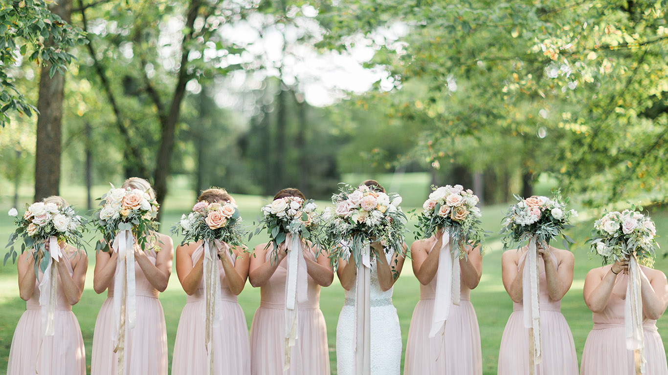 Bridal Party at Black Iris Estate
