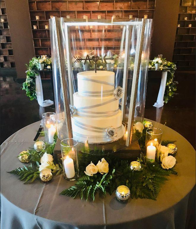 Custom designed cake shield