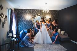 Bridal Party in Bridal Suite at Black Iris Estate