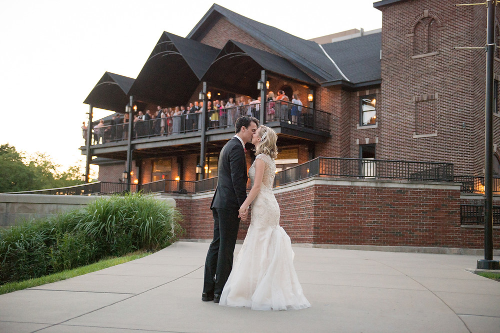 outdoor wedding reception CANAL 337 downtown Indianapolis