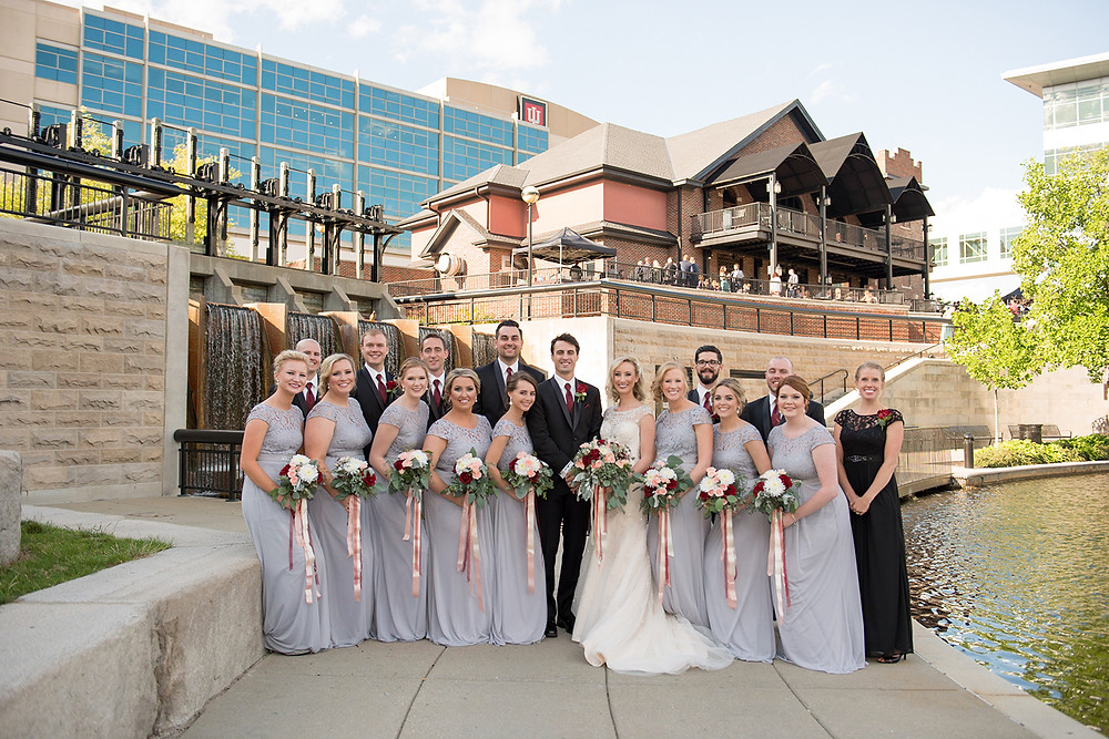 wedding reception CANAL 337 outdoor downtown Indianapolis