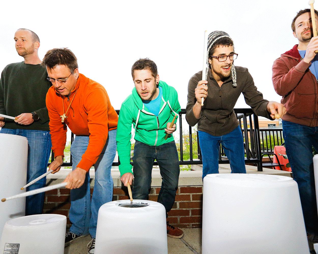bucket drummers