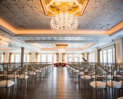 Indoor wedding ceremony at Black Iris Estate