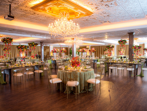 Amazing Color and Creativity List this Beautiful Wedding Reception At the Top of Our Favorites List