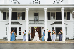 Bridal party in front of the Mansion at Black Iris Estate