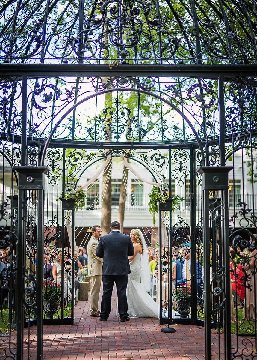 Outdoor wedding wedding in the Gazebo