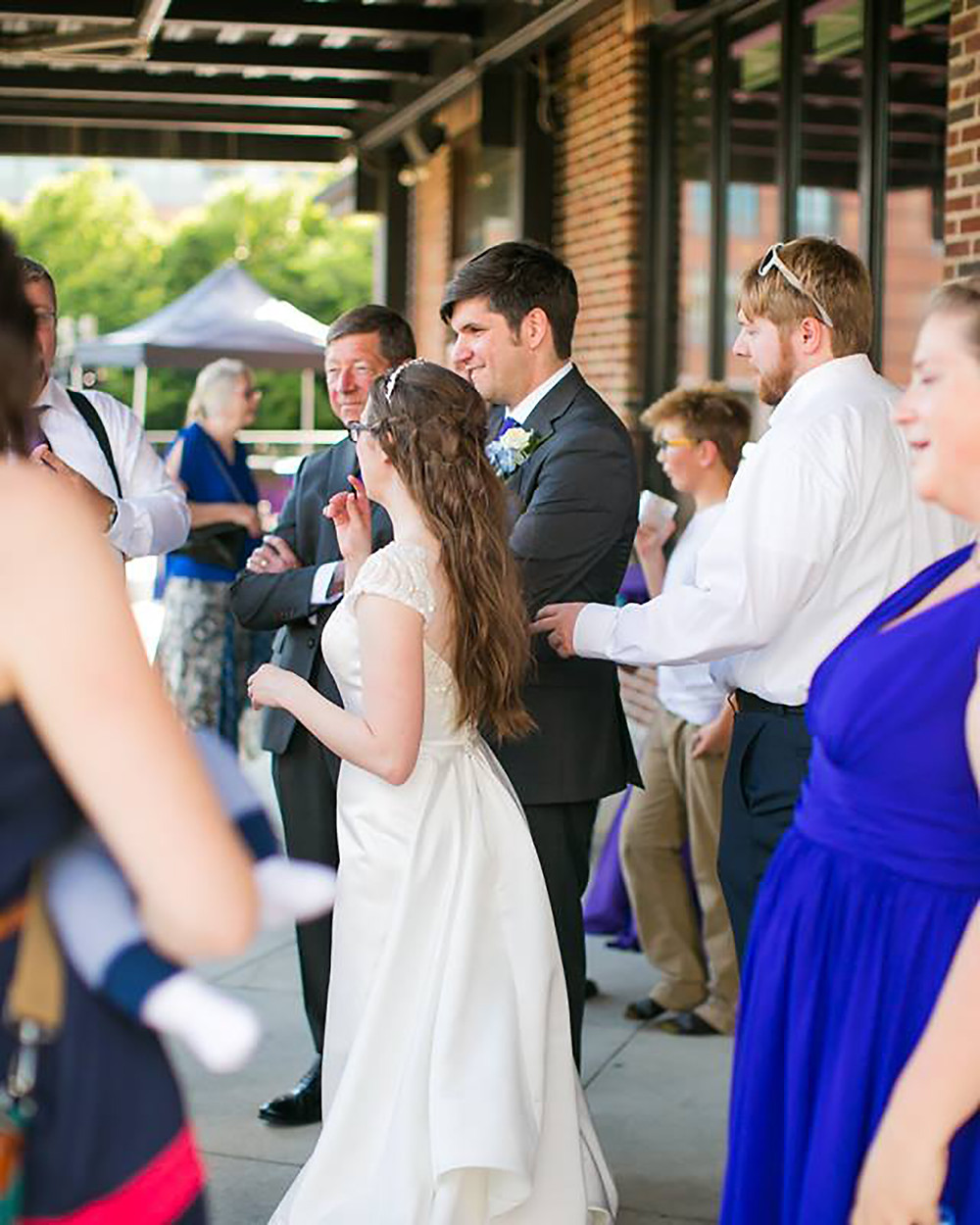 wedding reception CANAL 337 downtown Indianapolis outdoor terrace