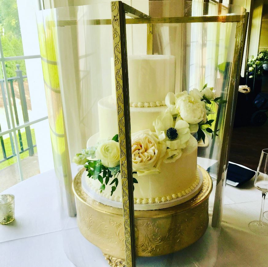 Our custom built Cake Guards help protect wedding cakes from contamination while allowing the cake to be viewed by the guests.