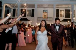 wedding reception at Black Iris Estate