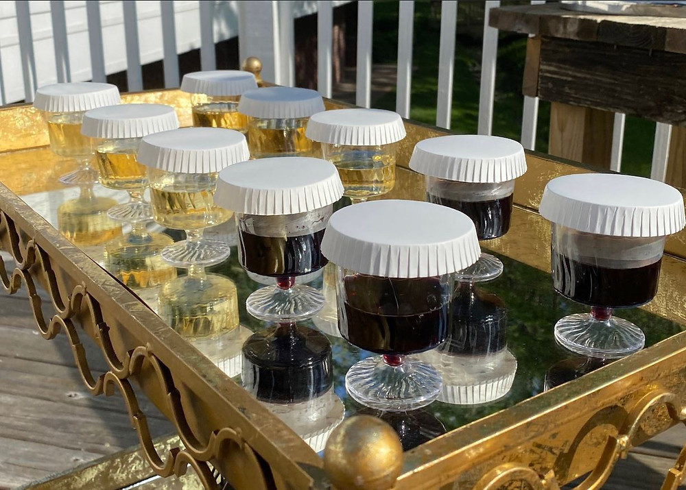 Beautiful antique gold wine bar with protective Stancaps