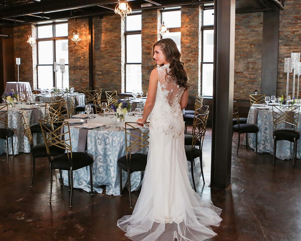 bride in reception room