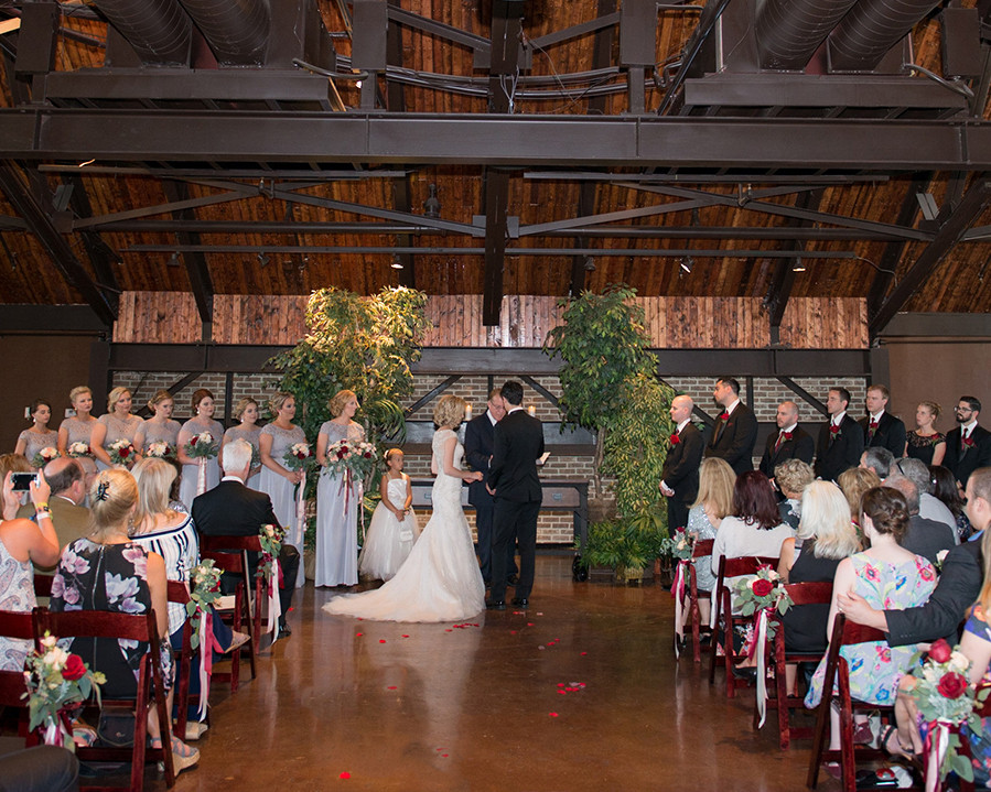 wedding ceremony CANAL 337 downtown Indianapolis