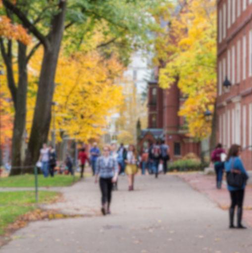 Blurred background of a university campu