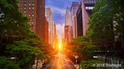 Sunset 42nd Street. Manhattanhenge