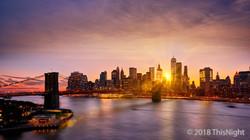 Sunset Manhattan Downtown