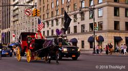 59 street.A horse-drawn carriage