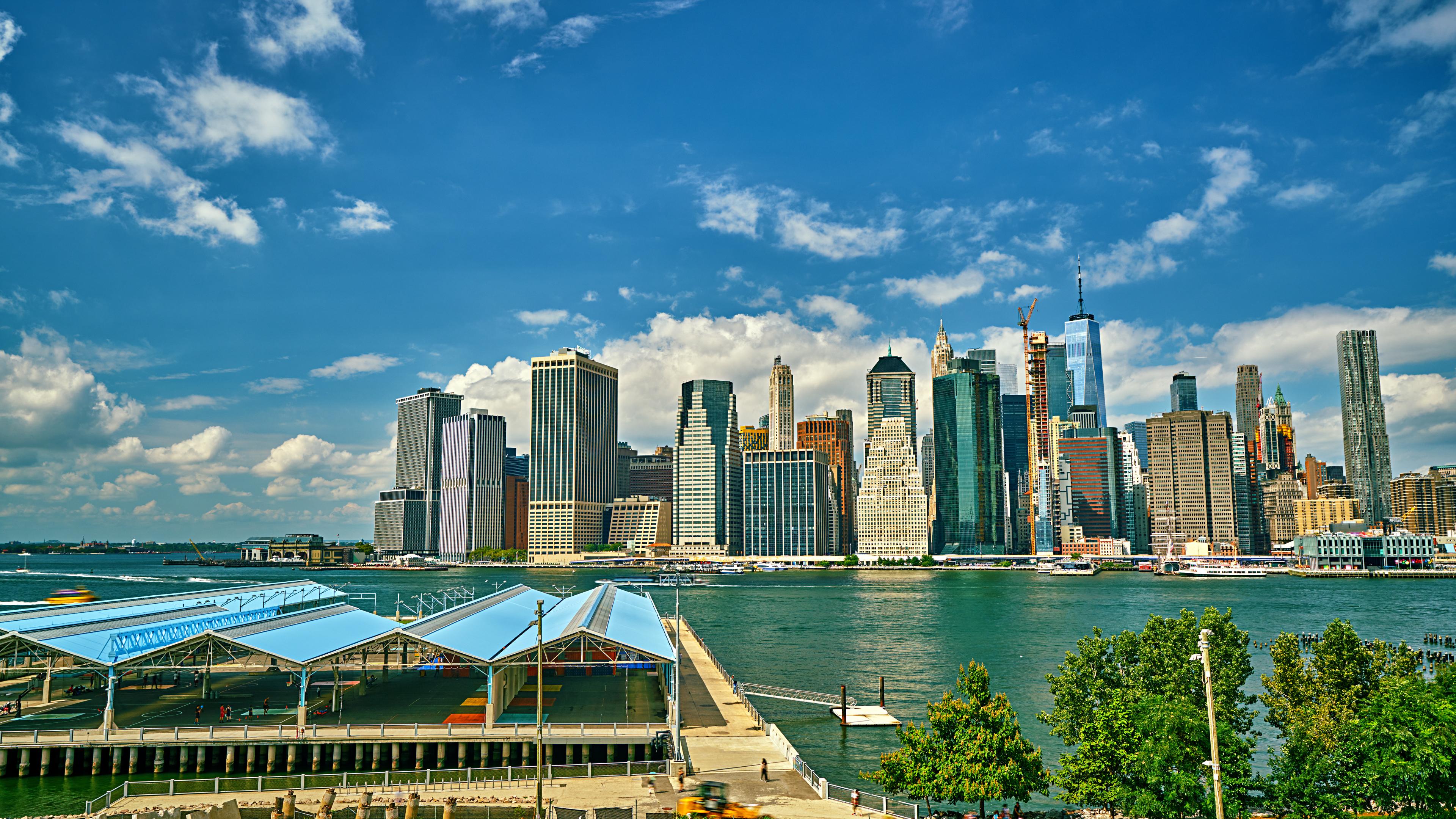Aerial Manhattan Downtown
