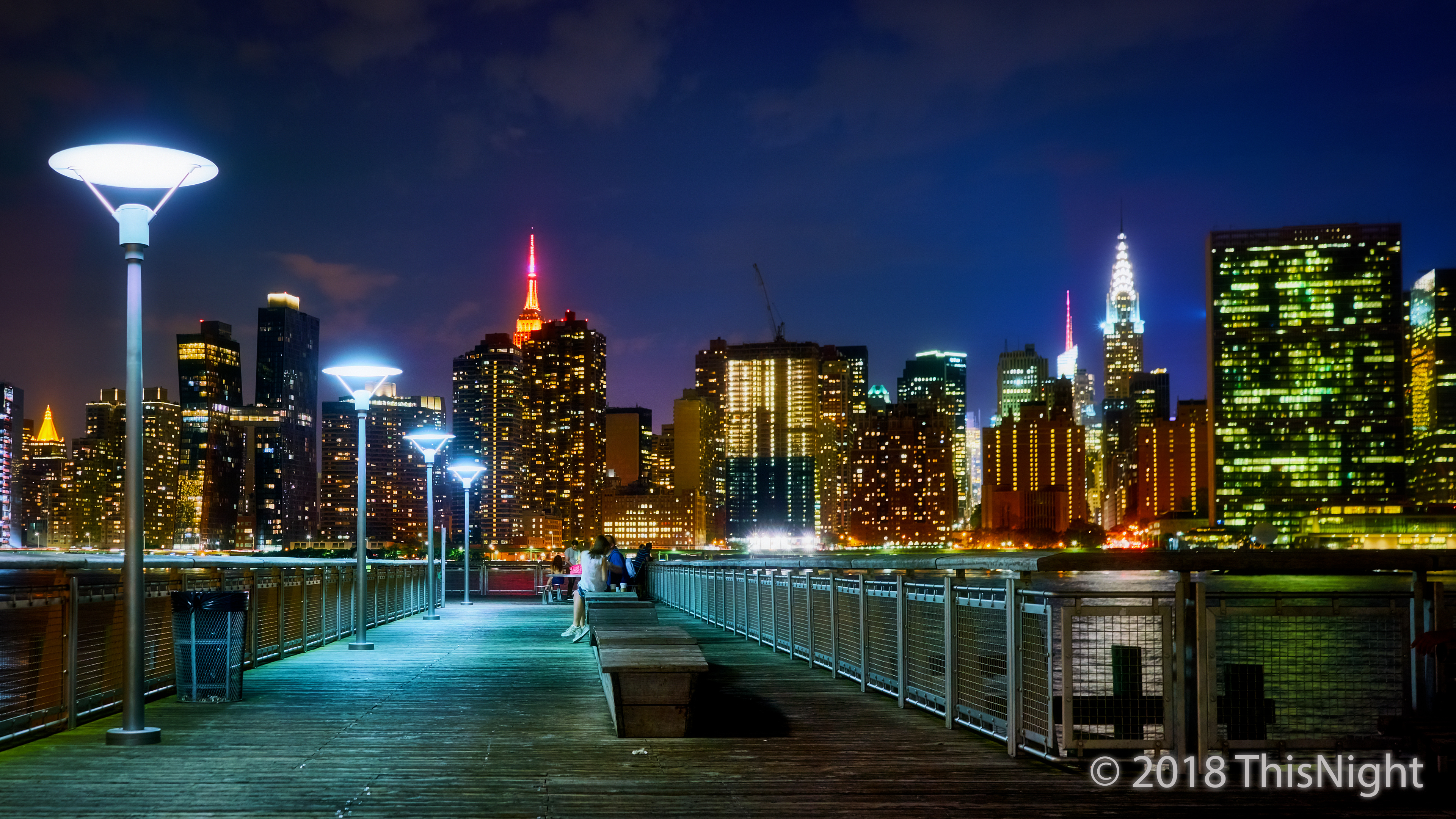 Manhattan Midtown from Queens. Pier