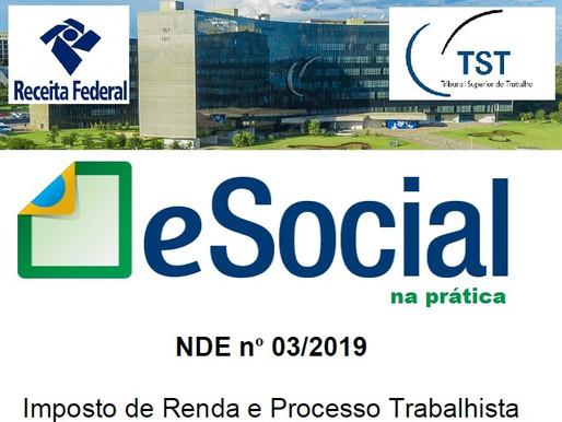 Saiba as mais recentes novidades para IMPOSTO DE RENDA e PROCESSO TRABALHISTA no eSocial