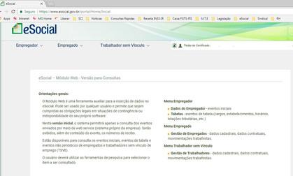eSocial WEB está no AR.!