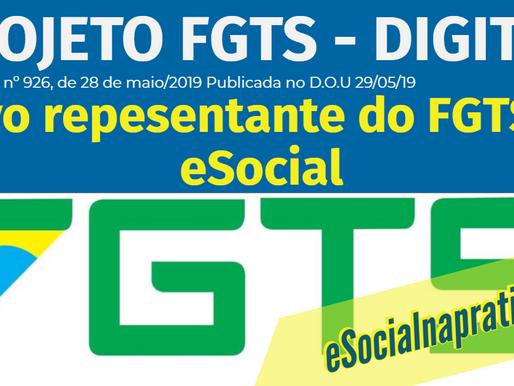 Novo representante do FGTS junto a gestão do eSocial