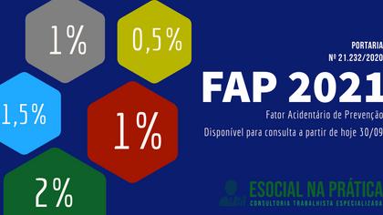 FAP  (Fator Acidentário de Prevenção) para 2021 é disponibilizado