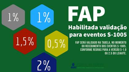 Habilitada validação de FAP para eventos S-1005