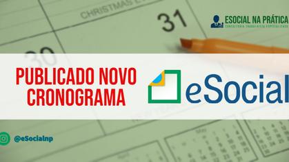 PUBLICADO NOVO CRONOGRAMA DO ESOCIAL