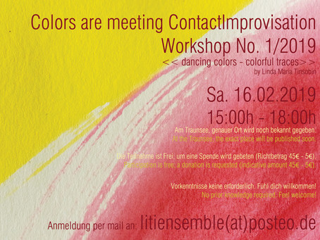 Colors are meeting ContactImprovisation